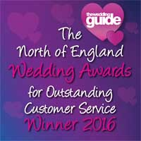 Winner North of England Wedding Awards 2016